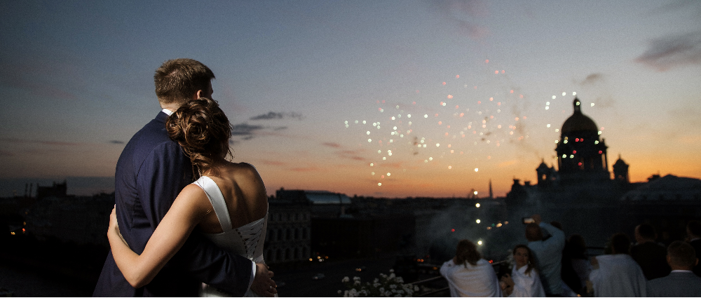 """Getting off the ground"": a wedding in the center of St. Petersburg"