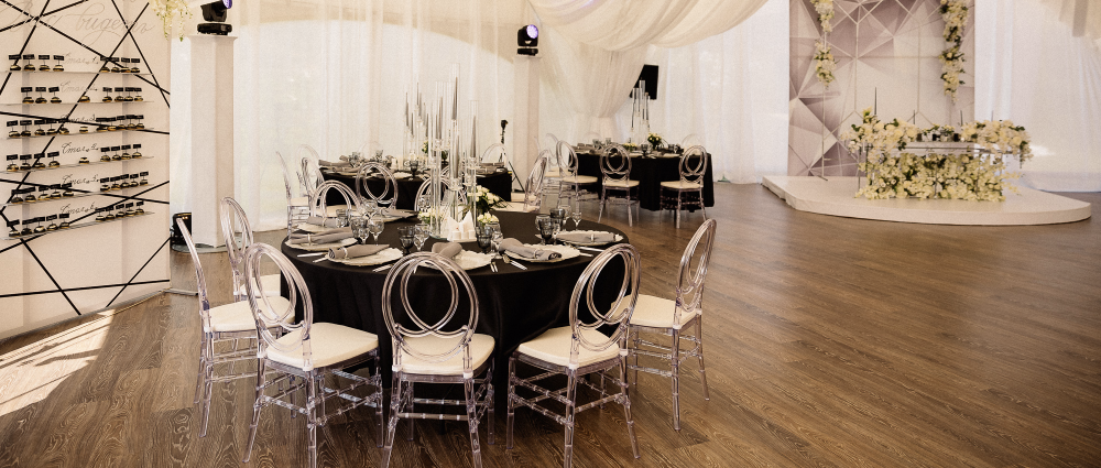 Place for a wedding: a tent at Azimut Hotel Kostroma
