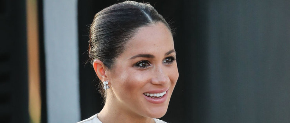 Meghan Markle in Morocco: in a Dior dress