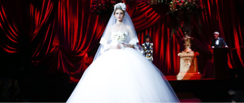 Dolce & Gabbana: wedding looks at the show in Milan